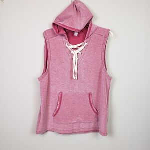 Alternative Hot Pink Sleeveless Hoodie